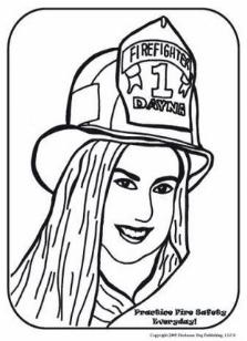 female firefighter coloring pages - photo#32